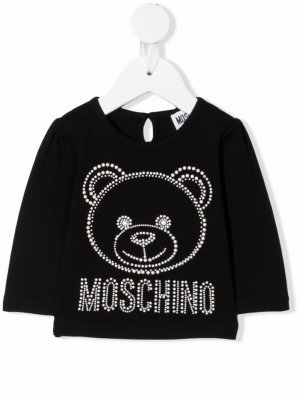 Толстовка Teddy Bear с заклепками Moschino Kids. Цвет: черный