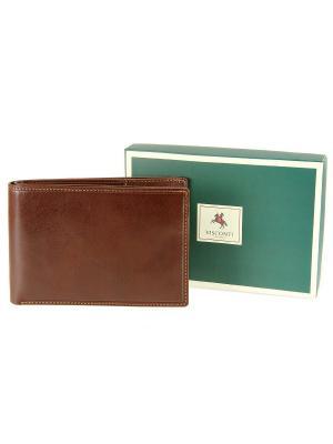 Бумажник MZ-9 Visconti. Цвет: коричневый
