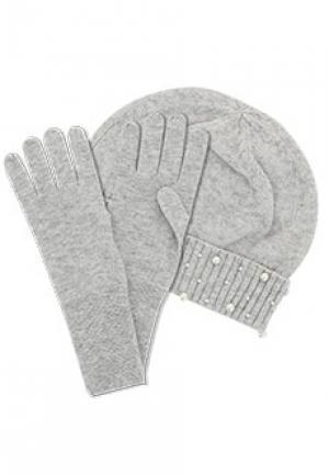 Комплект шапка ALLUDE. Цвет: серый