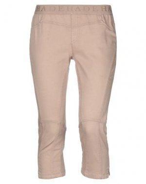 Джинсовые брюки-капри DEHA. Цвет: песочный