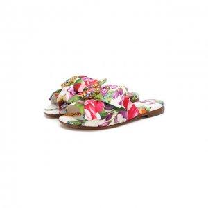 Шлепанцы Dolce & Gabbana. Цвет: разноцветный