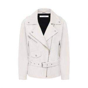 Кожаная куртка Iro. Цвет: белый