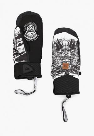Варежки горнолыжные Quiksilver. Цвет: черный