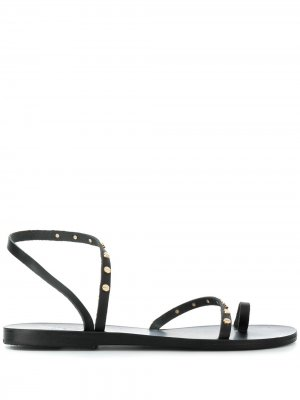 Сандалии с заклепками Apli Ancient Greek Sandals. Цвет: черный