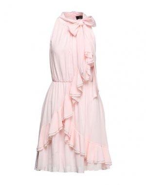 Короткое платье KI6? WHO ARE YOU?. Цвет: светло-розовый