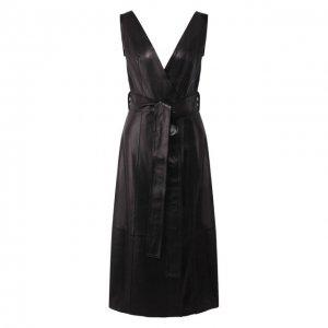 Кожаное платье Petar Petrov. Цвет: чёрный