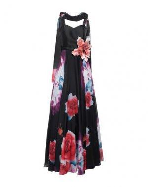 Длинное платье MIKAEL. Цвет: черный
