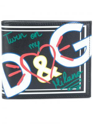 Бумажник с принтом Dolce & Gabbana. Цвет: черный