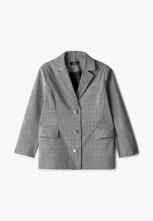 Пиджак DanMaralex. Цвет: серый