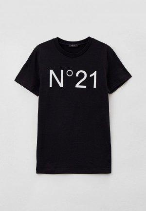Футболка N21. Цвет: черный