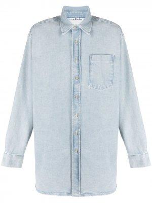 Джинсовая рубашка оверсайз Acne Studios. Цвет: синий