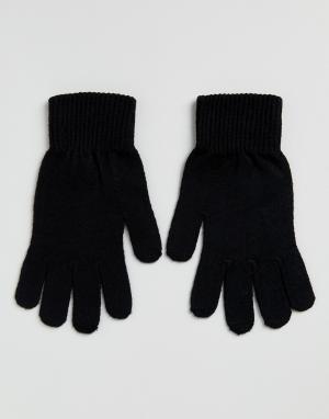 Черные перчатки для сенсорных гаджетов -Черный ASOS DESIGN