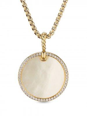 Подвеска Elements из желтого золота с бриллиантами David Yurman. Цвет: золотистый