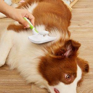 1шт Расческа для волос домашних животных SHEIN. Цвет: зелёный
