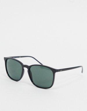 Черные солнцезащитные очки в круглой оправе Ray-ban ORB4387-Черный