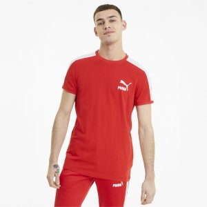 Футболка Iconic T7 Mens Tee PUMA. Цвет: красный