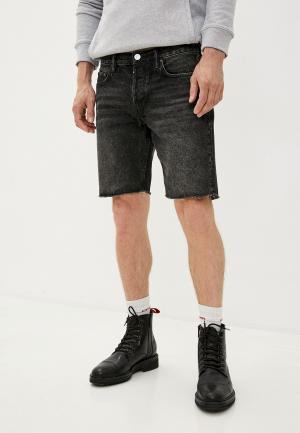 Шорты джинсовые AllSaints. Цвет: черный