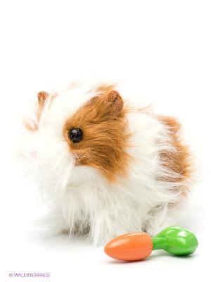 Свинка Шуша, магнитный датчик. Fluffy Family. Цвет: коричневый, белый