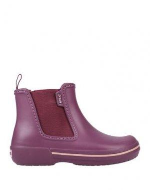 Полусапоги и высокие ботинки CROCS. Цвет: розовато-лиловый