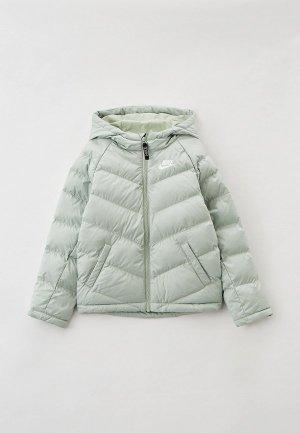 Куртка утепленная Nike U NSW SYNTHETIC FILL JACKET. Цвет: зеленый