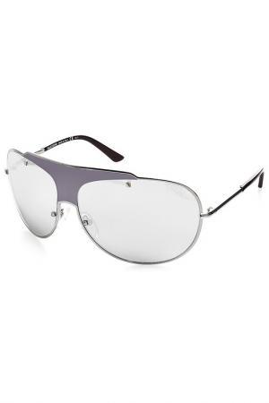 Солнцезащитные очки Valentino. Цвет: серебряный