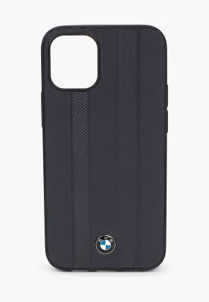 Чехол для iPhone BMW 12 mini (5.4), Signature Genuine leather Tire marks Navy. Цвет: черный