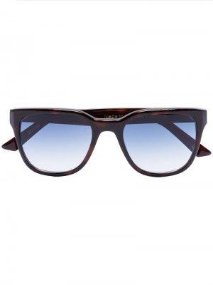 Солнцезащитные очки в квадратной оправе черепаховой расцветки Kirk Originals. Цвет: коричневый