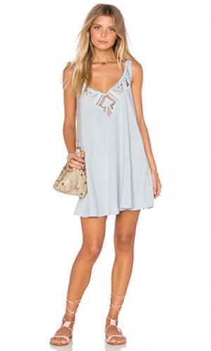 Платье marina Cleobella. Цвет: синий