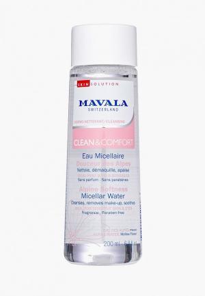 Мицеллярная вода Mavala Alpine Softness, 200 мл.. Цвет: прозрачный