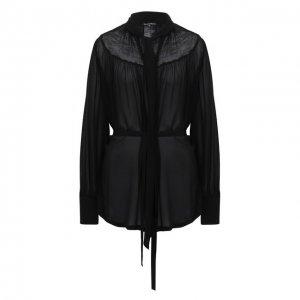 Блузка из вискозы Ann Demeulemeester. Цвет: чёрный