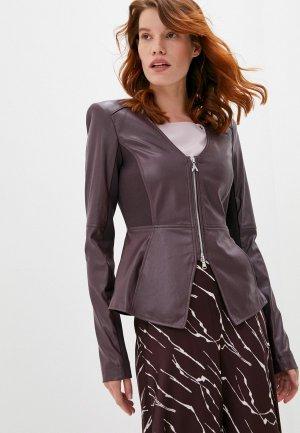 Куртка кожаная Patrizia Pepe. Цвет: бордовый