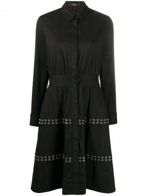 Расклешенное платье с длинными рукавами Steffen Schraut. Цвет: черный