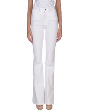 Повседневные брюки COMPAGNIA ITALIANA. Цвет: белый