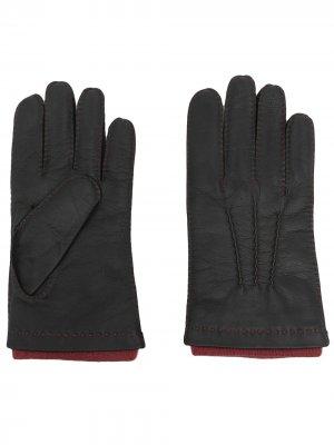 Кожаные перчатки Westminster N.Peal. Цвет: черный