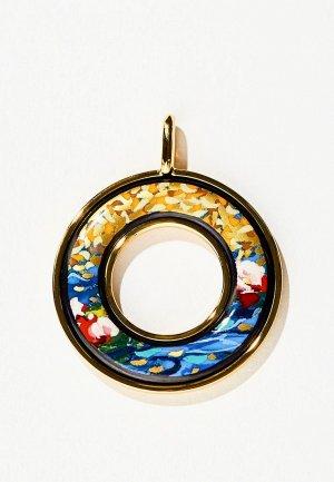 Кулон Freywille Hommage a Claude Monet. Цвет: разноцветный