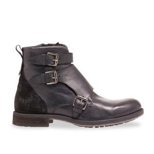 Ботинки кожаные ISEO KAPORAL. Цвет: черный