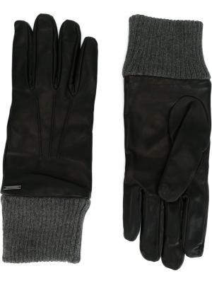 Перчатки Diesel. Цвет: чёрный