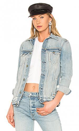 Свободная джинсовая куртка daria GRLFRND. Цвет: none