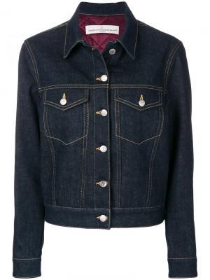 Джинсовая куртка с декоративной строчкой Golden Goose Deluxe Brand. Цвет: синий