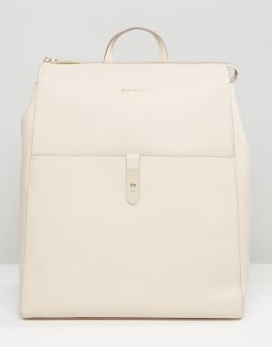Кожаный рюкзак Modalu. Цвет: кремовый