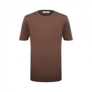 Шелковая футболка Gran Sasso. Цвет: коричневый
