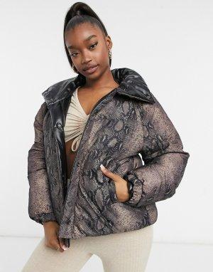 Дутая куртка под кожу Blank NYC-Черный цвет NYC