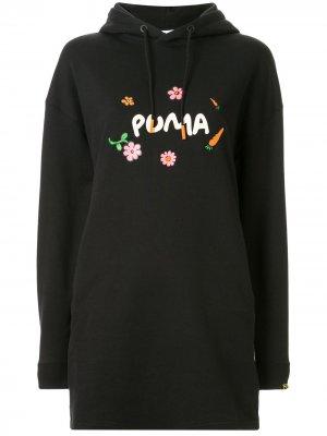Платье-худи из коллаборации с RDET Puma. Цвет: черный