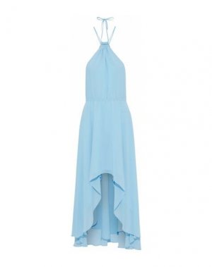 Короткое платье HAUTE HIPPIE. Цвет: небесно-голубой