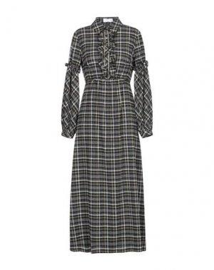 Длинное платье MARIA GRAZIA SEVERI. Цвет: серый