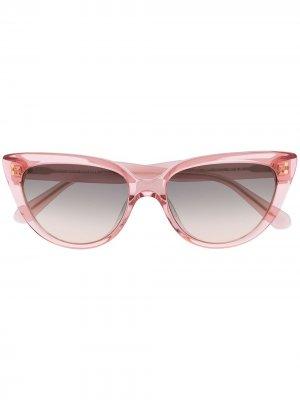Солнцезащитные очки Alijah в оправе кошачий глаз Kate Spade. Цвет: розовый