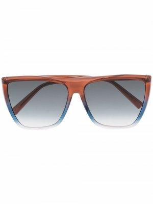 Солнцезащитные очки в квадратной оправе Givenchy Eyewear. Цвет: коричневый