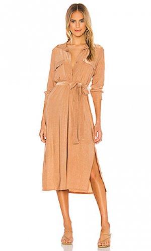 Платье rivi LAGENCE L'AGENCE. Цвет: цвет загара