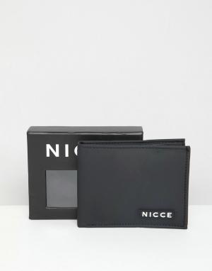 Черный бумажник Nicce London. Цвет: черный