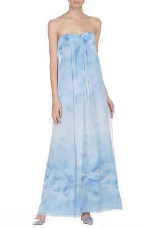 Платье ALICE+OLIVIA. Цвет: голубой